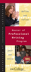 Brochure Design - USC Master of Professional Writing